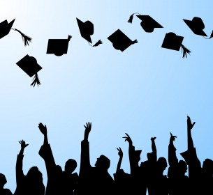 hat tossing ceremony at graduation
