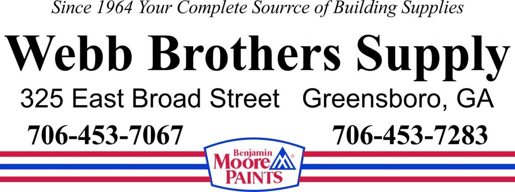 NGA sponsor Webb Brothers Supply Logo